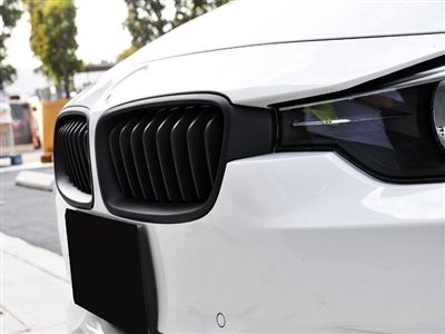 Autotecknic - Stealth Black & Glazing Black Front Grilles - BMW F30/F31 3-Series