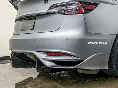 Unplugged Performance - Ascension Rear Bumper and Diffuser System - Tesla Model 3
