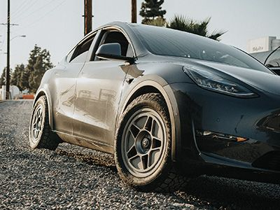 Unplugged Performance - Off Road & Snow Coilover System - Tesla Model Y