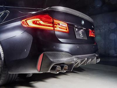 3D Design - Carbon Fiber Rear Diffuser - BMW F90 M5