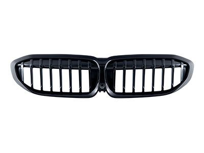 Autotecknic - Painted Black Front Kidney Grilles - BMW G20 3-Series