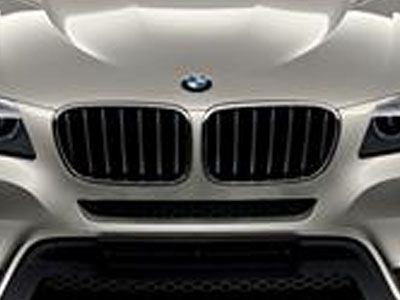BMW - M Performance Gloss Black Kidney Grilles - BMW F25 X3 Pre-LCI