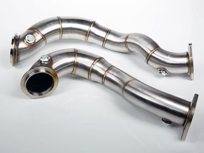 VRSF - 3″ Stainless Steel Catless Downpipes - BMW E9X 335xi