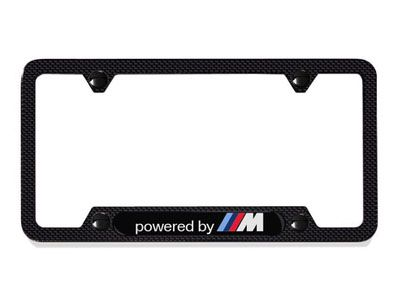 BMW - Carbon Fiber License Plate Frame - Powered by M