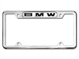 BMW Stainless Steel Marque License Plate BMW Logo ~ Polished Stainless Steel ~