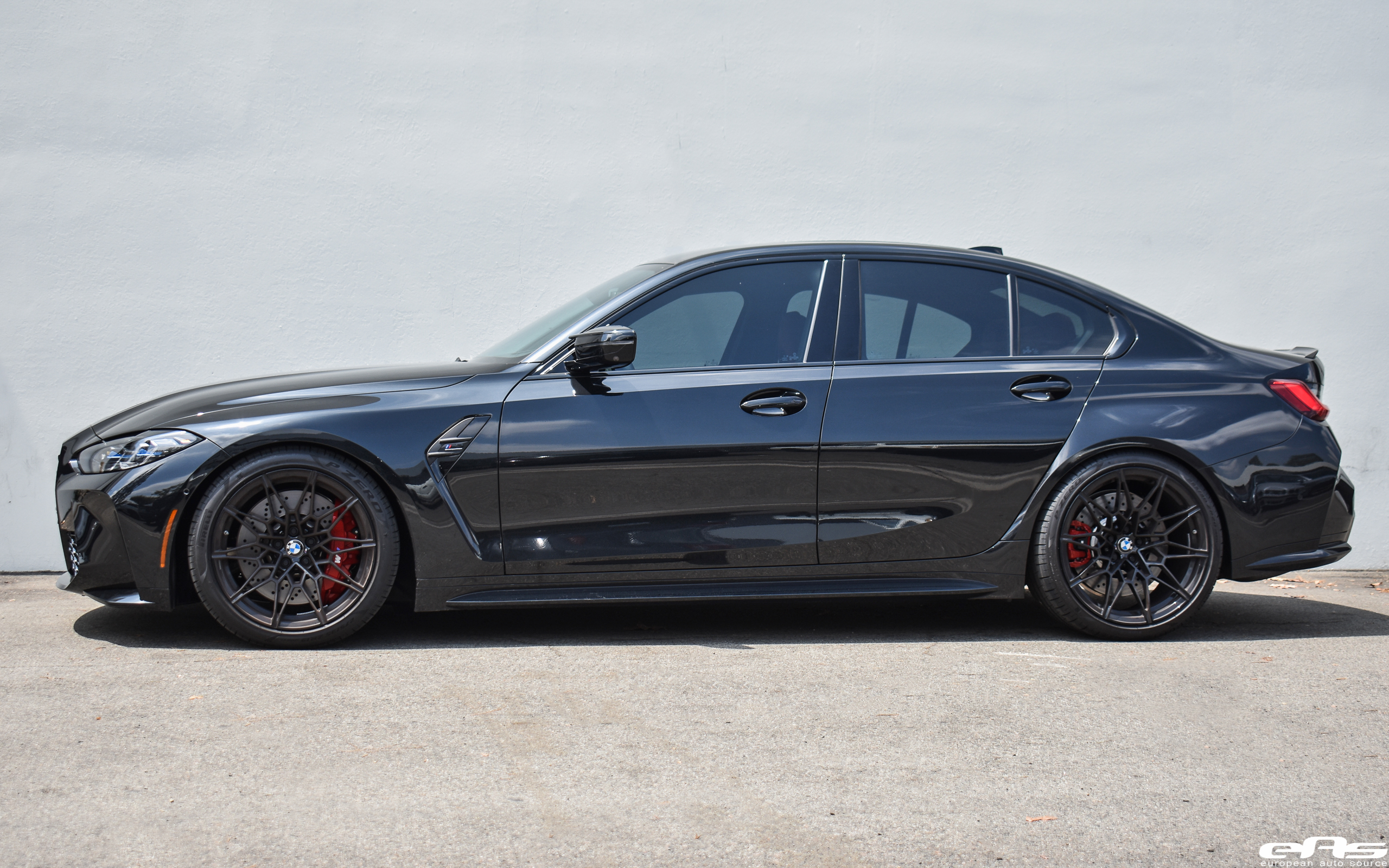 Black Sapphire Metallic G80 M3 Competition - AST Suspension Lowering Springs & Macht Schnell Competition Wheel Spacers