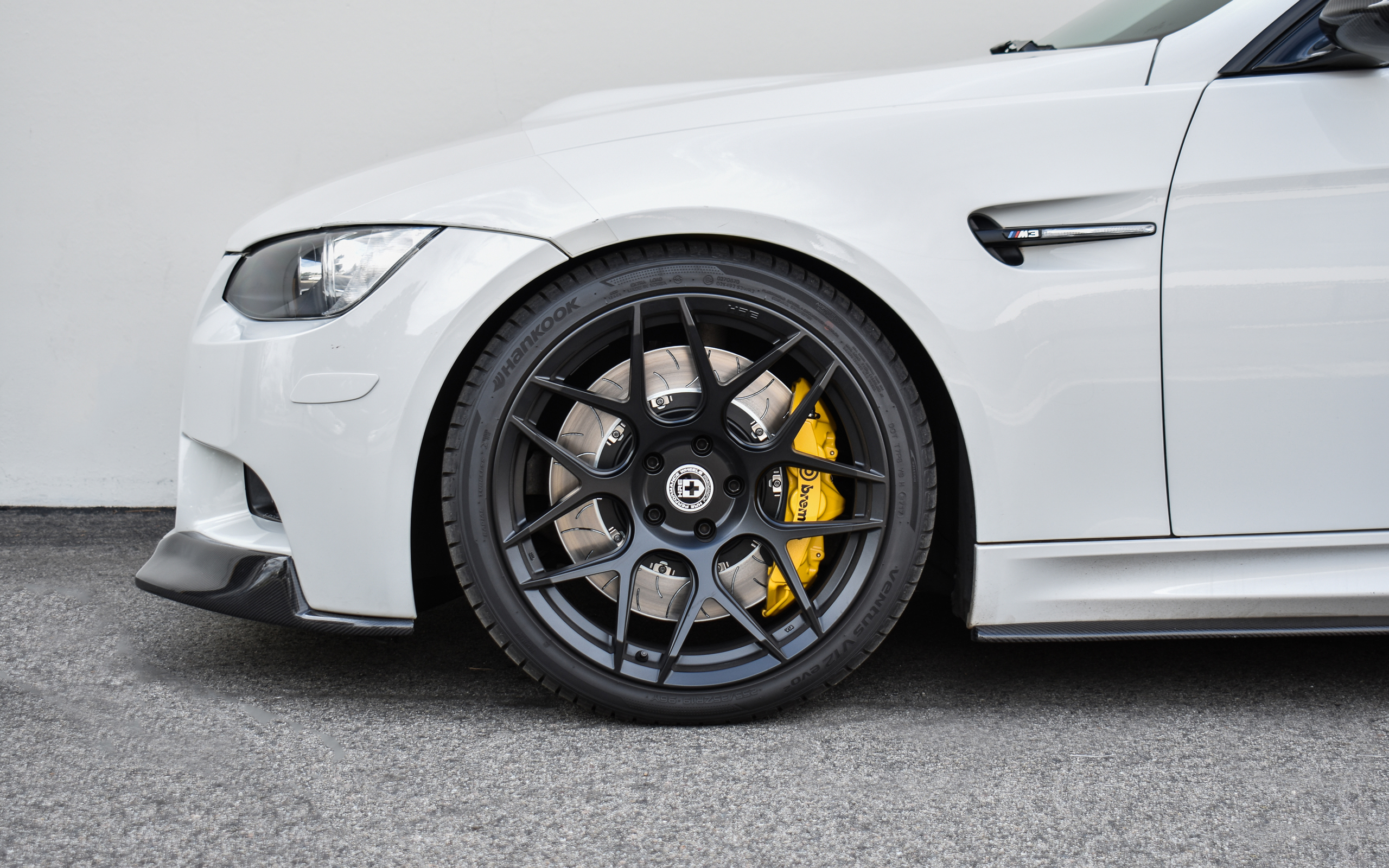 2013 Alpine White E92 M3 - Brembo GT Big Brake Kit & HRE FF01