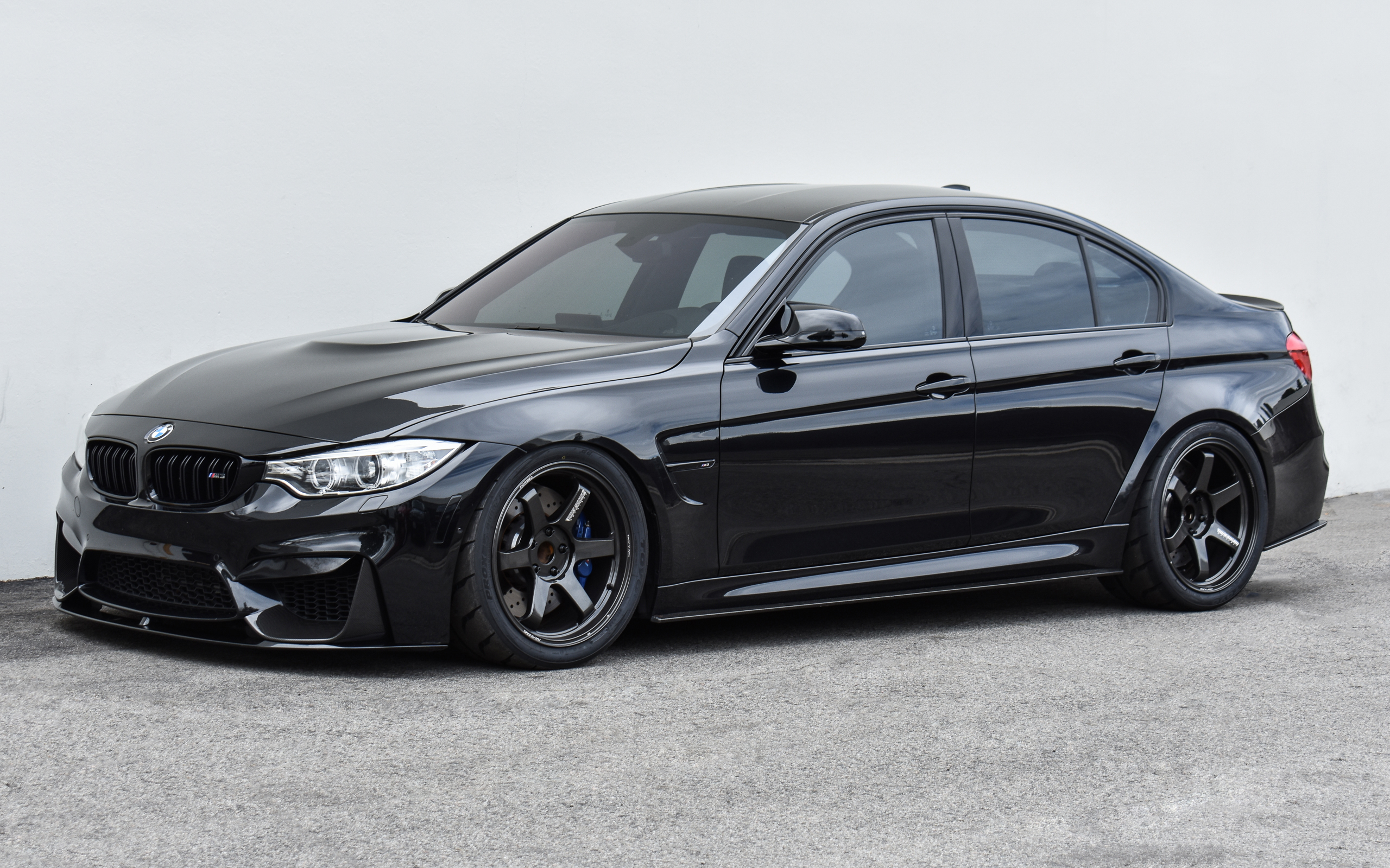 Black Sapphire F80 M3 - Volk Racing TE37 Ultra M-Spec, 3D Design Carbon Rear Diffuser, KW V3 Coilovers