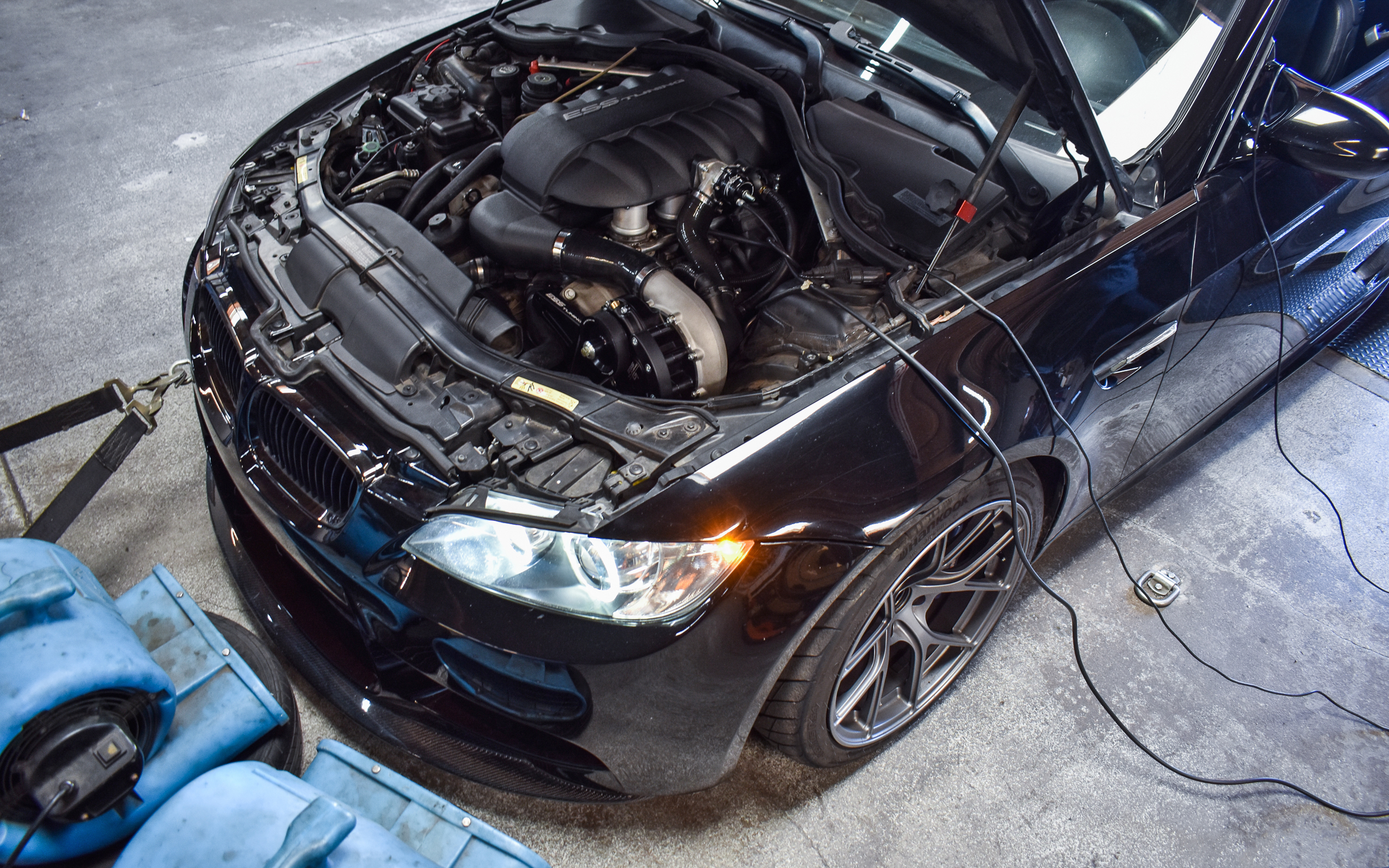 Jet Black E92 M3 - ESS Tuning G1 Supercharger System