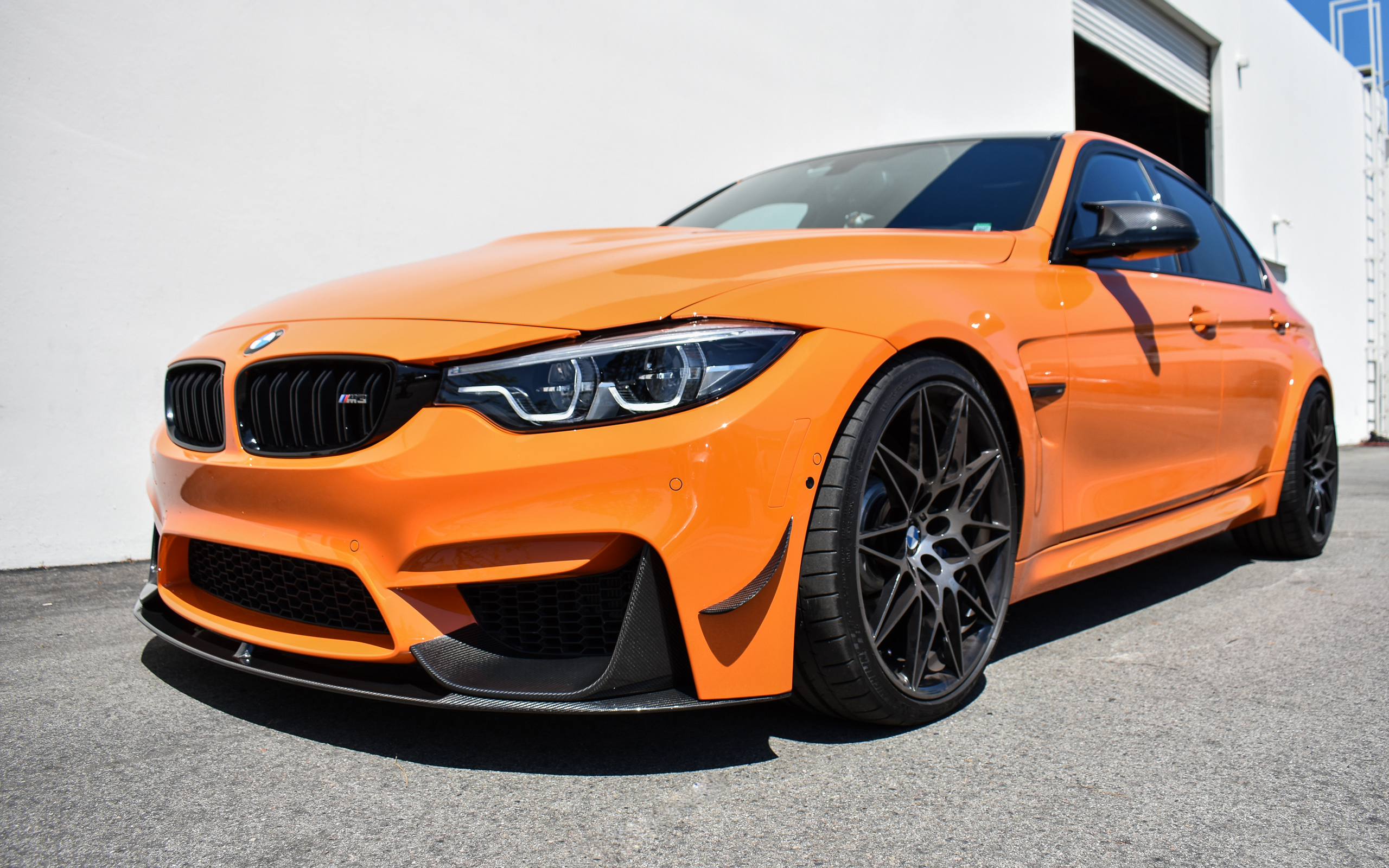 2018 Fire Orange F80 M3 ZCP, Part 2 - BMW M Performance Carbon Fiber Splitters